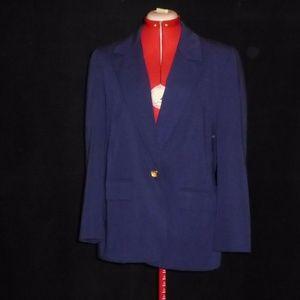 Vintage Pendleton Classic Womens Blazer Sz 10 Blue